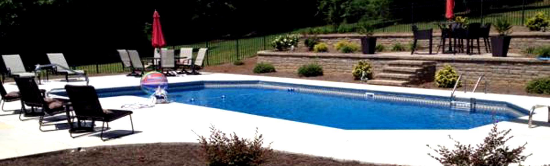 custom landscaping and pool design by Guilford Pools